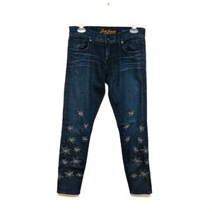 Lucky Brand Legend Sienna Bead/Embroidered Jeans